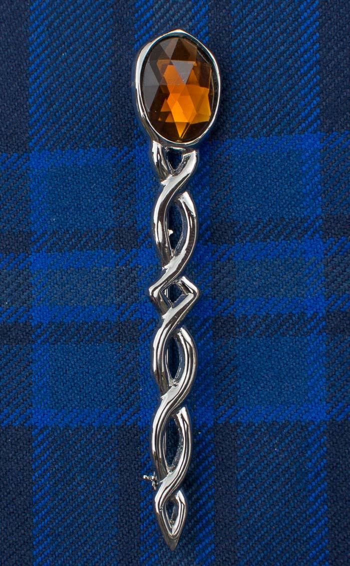 Jewelled Argyll Interlace Kilt Pin