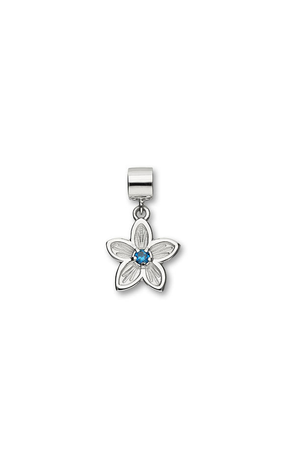 Happy Valley Blue Cubic Zirconia Charm C310 Front