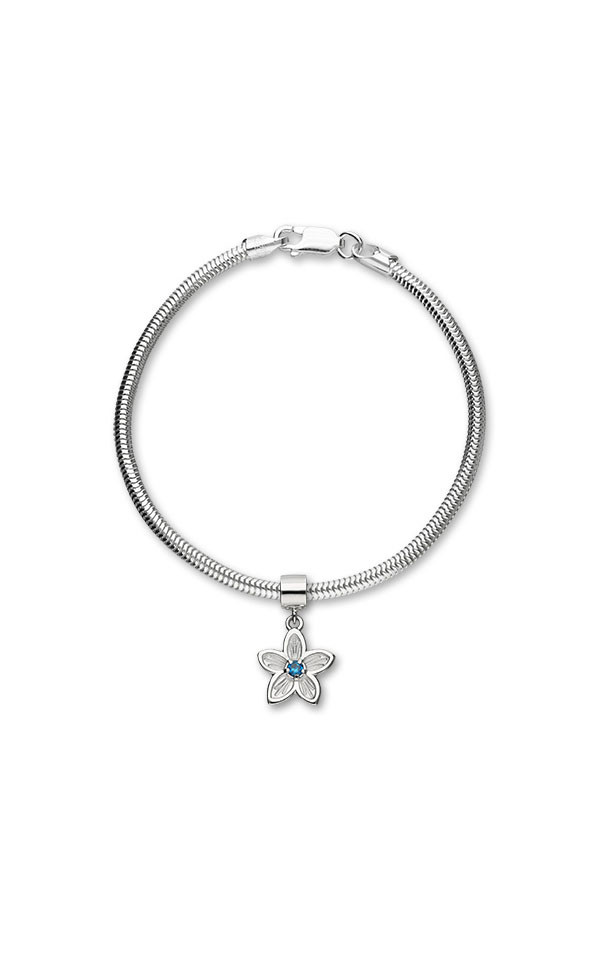 Happy Valley Blue Cubic Zirconia Charm C310 On Bracelet