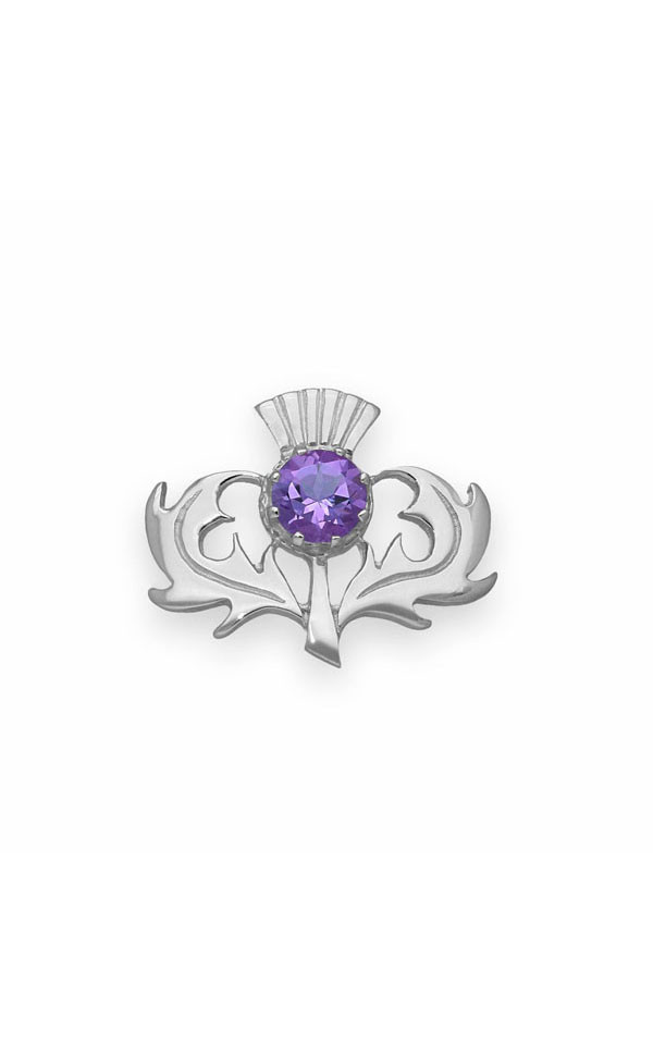 Thistle Brooch CB33 Front