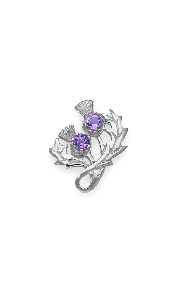 Thistle Brooch CB34 Front