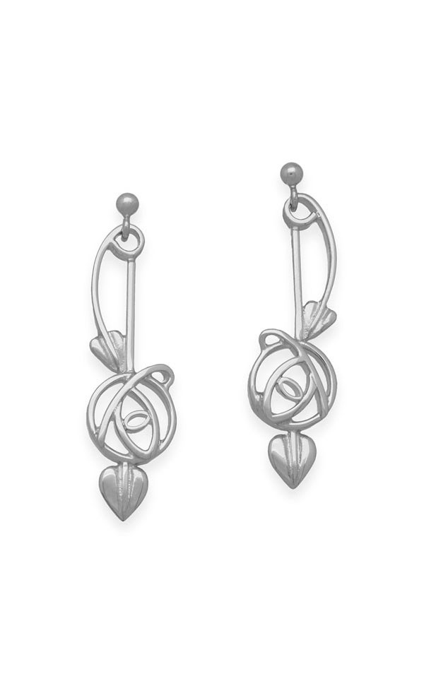 Charles Rennie Mackintosh Earrings E1024 Front