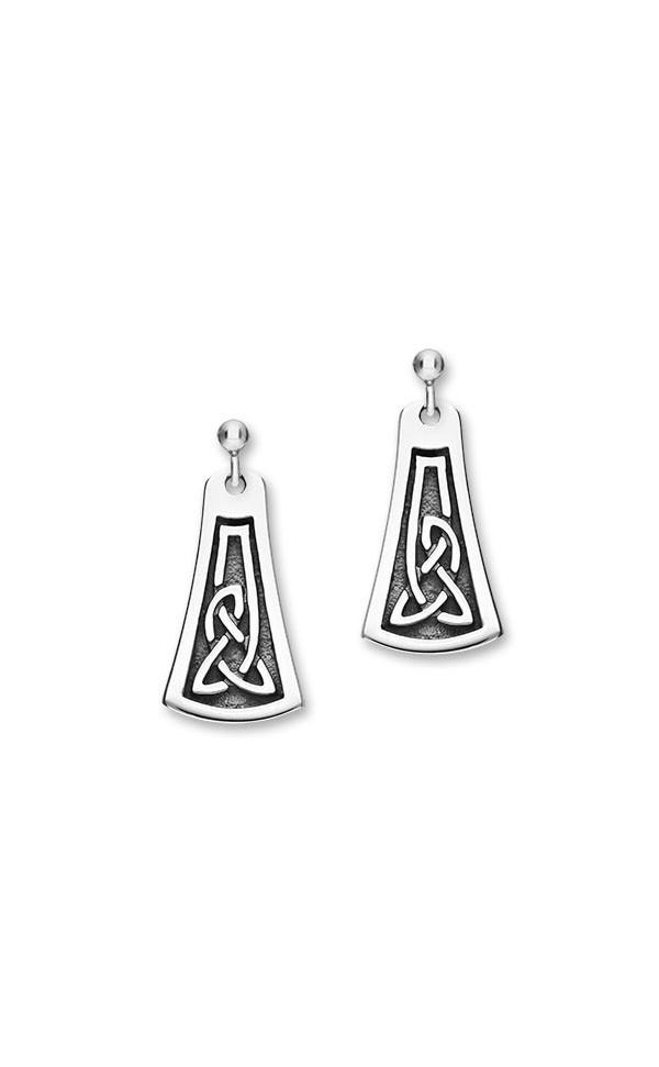 Celtic 16 Drop Earrings E1789 Front
