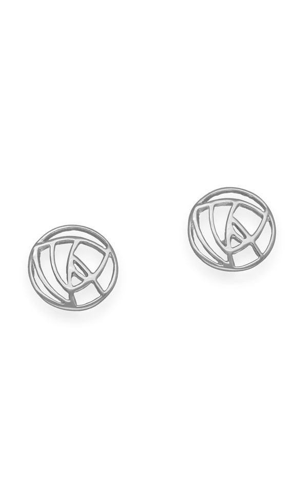 Charles Rennie Mackintosh Earrings E632 Front