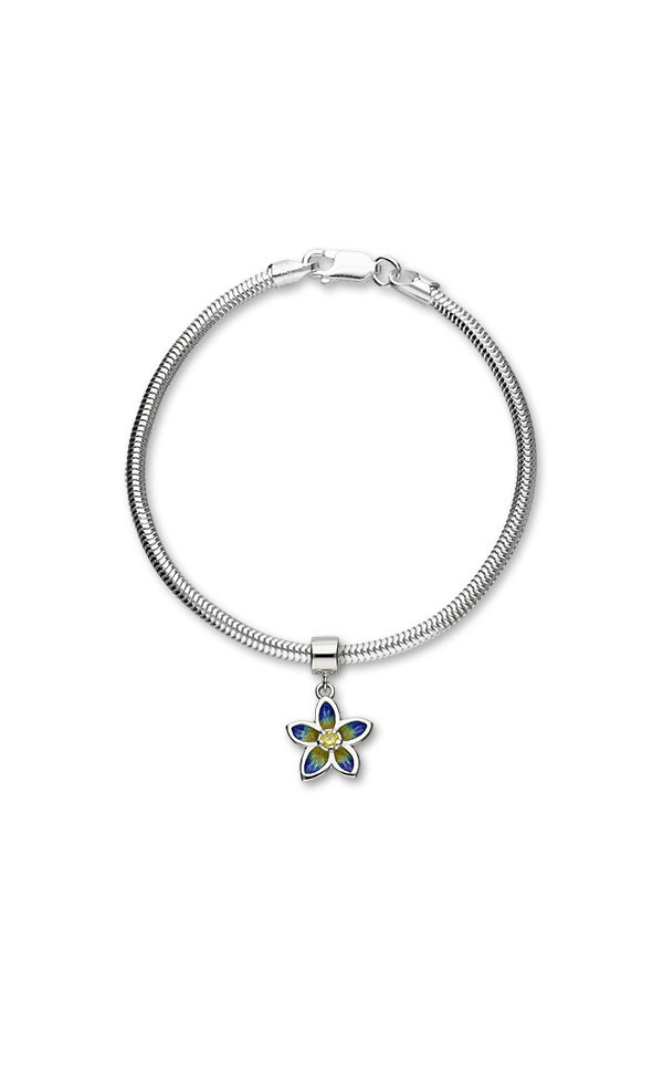 Happy Valley Pansy Charm EC4 On Bracelet
