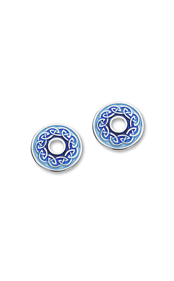 Celtic 16 Stud Earrings EE529 Front