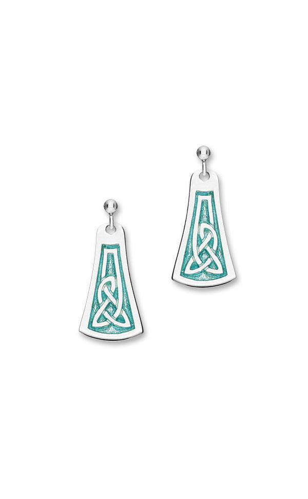 Celtic 16 Drop Earrings EE530 Front