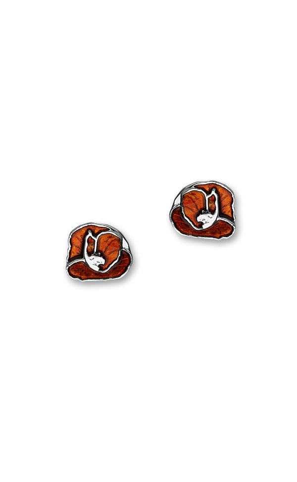 Poppies Stud Earrings EE555 Front