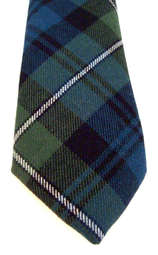 Mens Tie All Wool Made in Scotland Gow Modern Tartan