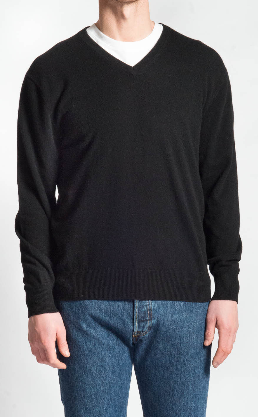 Cashmere V Neck Sweater | CLAN by Scotweb