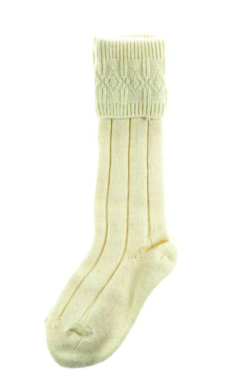 Mens Small Charcoal Grey Wool Kilt Knee Length Socks Shoe Size 4-7