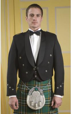 Irish Brian Boru Jacket, Black, with vest