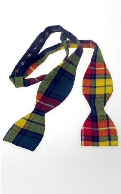 Luxury Tartan Self Bow Tie