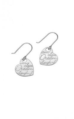 Script Drop Earrings ‑ E1471