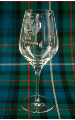 Clan Crest Wine Glasses ‑ Set of 4
