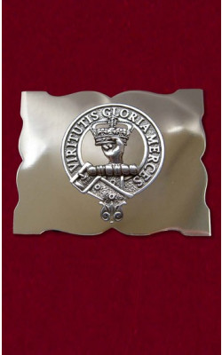 Clan Crest Silver Buckle