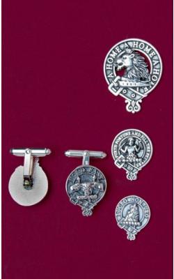 Clan Crest Silver Cuff links