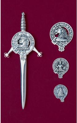 Clan Crest Silver Kilt Pin