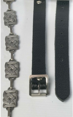 Fancy Square Link Antiqued Sporran Chain Strap