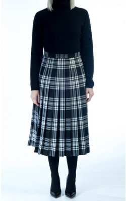 All‑round Pleated Skirt, tartan
