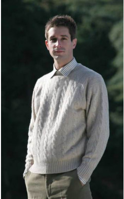 Luxury Scottish Cashmere Sweater, Cable Knit