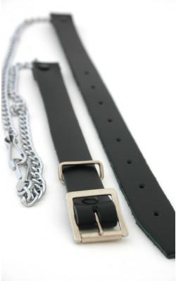 Chrome Leather Chain Strap