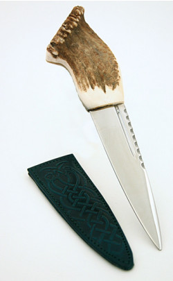Stag Antler Sgian Dubh, Crown End