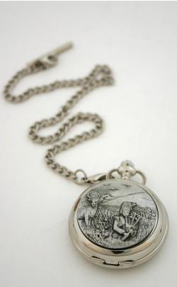 Highland Piper Pocket Watch