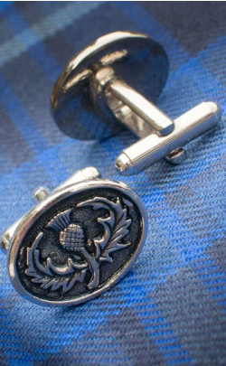 Oval Thistle Cuff Links