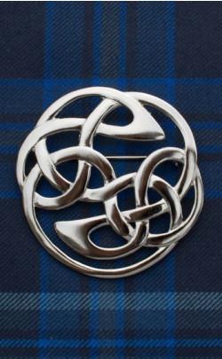 Lindisfarne Plaid Brooch