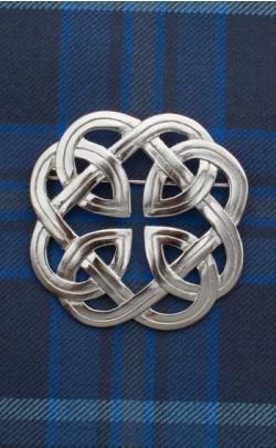 Eternal Interlace Plaid Brooch