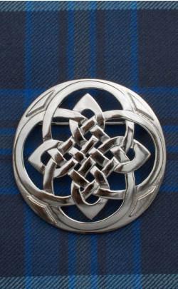 Celtic Plaid Brooch