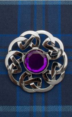 Celtic Interlace Plaid Brooch