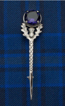 Jewelled Thistle Kilt Pin