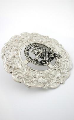 Luxury Clan Crest Plaid Brooch
