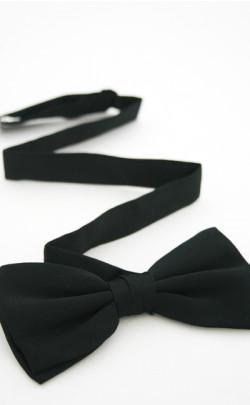 Black Adjustable Bow Tie