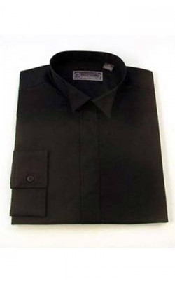 Economy Black Wing Collar Shirt