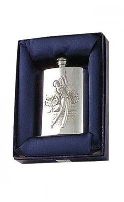 Golf Scene Hip Flask