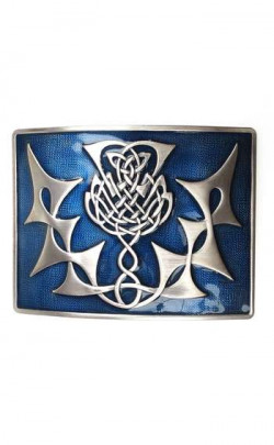 Highland Thistle Belt Buckle (Chrome)