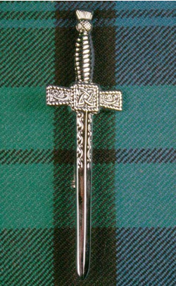 Chrome Thistle Kilt Pin