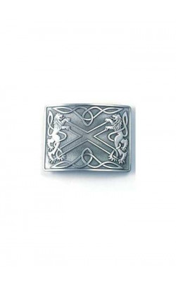 Highland Saltire Buckle with All Over Antique Finish
