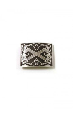 Highland Saltire Buckle With Antique Finish