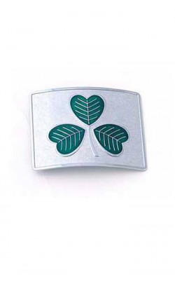 Shamrock Belt Buckle (Chrome Green)