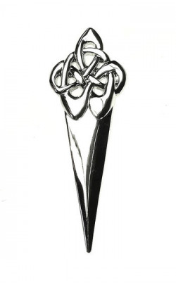 Swirl Kilt Pin (Chrome)