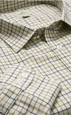 Pure Cotton Tattersall Check Shirt
