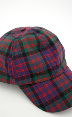 Ladies All Over Worsted Wool Tartan Baseball Cap