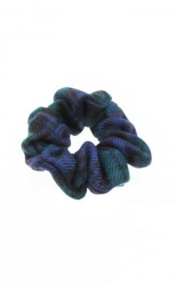 Worsted Wool Tartan Scrunchie