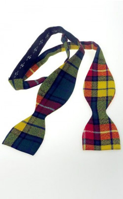 Luxury Tartan Self Bow Tie