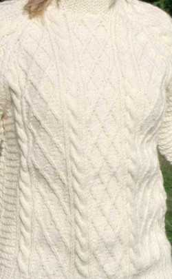 Ladies Luxury Hand‑Knitted Aran Sweater ‑ Cairngorm
