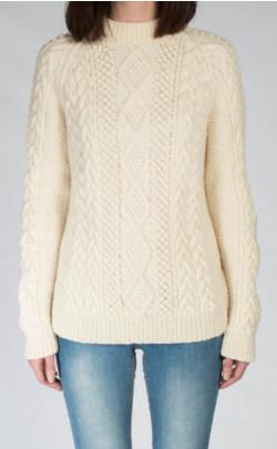 Ladies Luxury Hand‑Knitted Aran Sweater ‑ Moorfoot